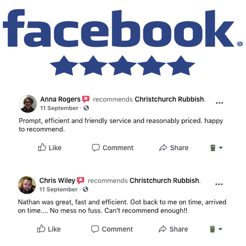 Christchurch Rubbish Facebook Reviews